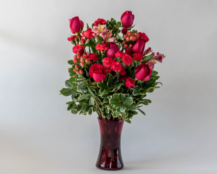 Hot Pink Passion Vased Arrangement