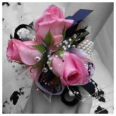 Hot pink rose Prom Corsage