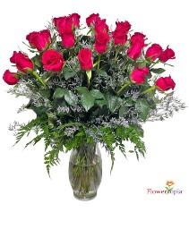 Hot Pink roses Bouquet Hot Pink Roses Arrangement