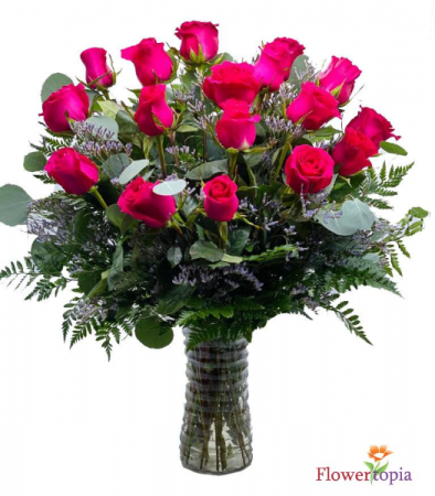 Hot Pink roses Bouquet Hot Pink Roses Arrangement