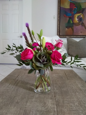 Hot pink Roses delight   in Delray Beach, FL | Greensical Flowers Gifts & Decor