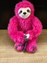 Hot pink sloth