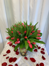 Hot Pink Tulips  Exotic arrangement