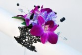 Hot Purple Fanciness Wrist Corsage