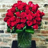 Hot Romance Bouquet Vased Arrangement