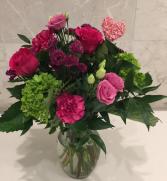 Jeweled Floral Vase Vase