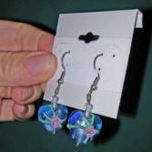 Blown Glass Heart Earings Jewellery