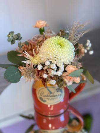 Huckleberry mug coral Fresh cut with keepsake