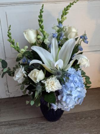 Hues of Blue Fresh Arrangement