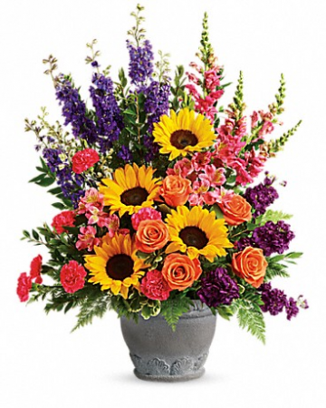 Hues Of Hope Bouquet Funeral Bouquet
