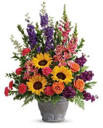 Hues Of Hope Bouquet  Sympathy Arrangement