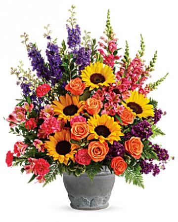 Funeral Flowers Hues of Hope