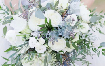 Hues of pale blues/greens/whites Bridal Bouquet