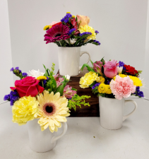Hug In A Mug Flower Arrangement