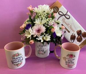 Hug in a Mug mothers day arrangement in mug in Silverton, OR | Julie's Flower Boutique