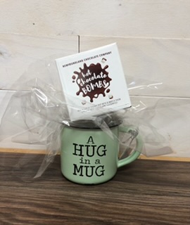Hug in a mug Mug and chocolate bomb