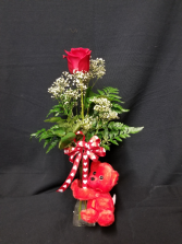 **SOLD OUT** Huggable Red Rose Budvase