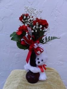 Huggy Bear in Red & White