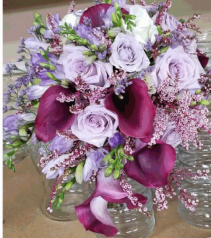 Hughes Of Lavender Bridal Bouquet