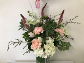 White / Hint of Color Birthday Flowers
