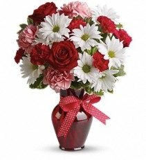 Hugs and Kisses Bouquet with Red Roses EF20