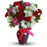 Hugs and Kisses Bouquet with Red Roses T11Z100A Anniversary, Valentine, Love, Romance