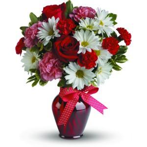 XOXO with Red Roses Anniversary, Valentine, Love, Romance