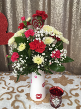 Hugs and Kisses Vase Arrangement