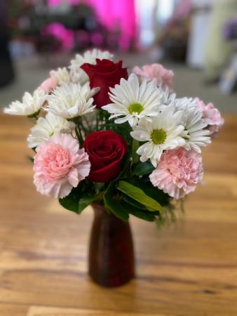 Hugs and Kisses vase