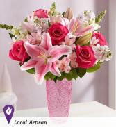 Hugs for You, Mom! In Pinnk European Gates Vase