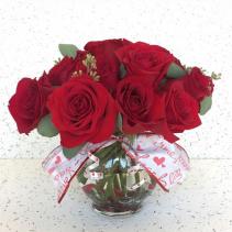 Hugs & Kisses Rose bowl