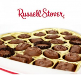 Russell Stover Chocolates Heart shapped box