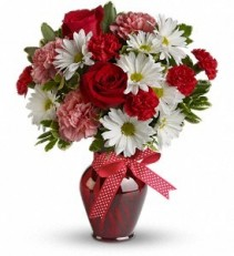 Hugs & Kisses Vase Arrangement