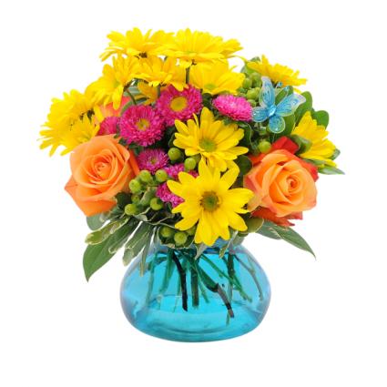 Hugs & Smiles Flutter Bouquet Arrangement
