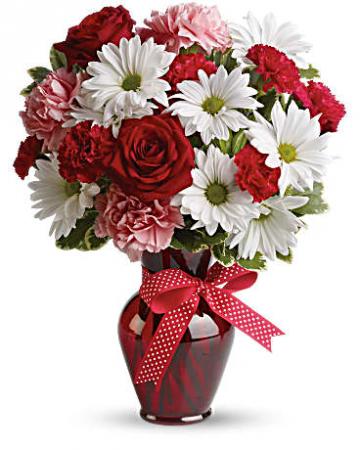 Hugs to Mom Vase Arrangement