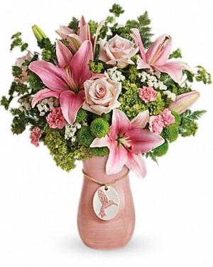 Humming Bird Keepsake vase in Fairfield, OH | NOVACK-SCHAFER FLORIST