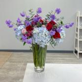Hummingbird Vase Arrangement