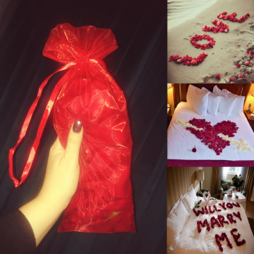 Hundreds of Red Rose Petals Organza Bag