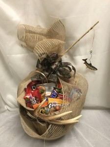 The Outdoors Man Snack Basket Just for Him Gift Basket