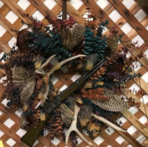 HUNTER'S WREATH. Silk wreath