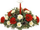 HURRICANE CANDLE CHRISTMAS CENTERPIECE
