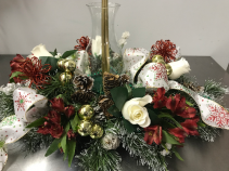 HURRICANE CENTERPIECE CHRISTMAS CANDLE CENTERPIECE