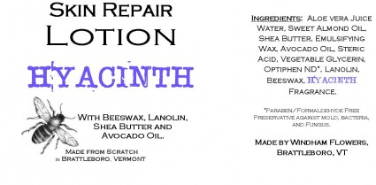 HYACINTH Made from Scratch Natural Hand Lotion Our own luxurious shea butter, beeswax and lanolin hand lotion !