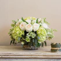 hydrangea and roses Vase arrangement