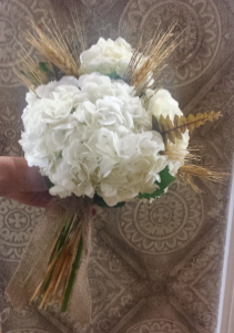 Hydrangea and Wheat Bouquet