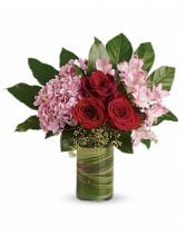 Hydrangea blooms Vase
