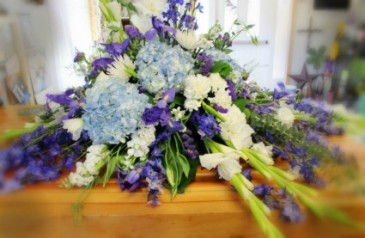 Hydrangea Blue Casket Spray Casket Spray