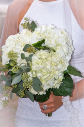 Hydrangea & Eucalyptus  Wedding Bouquet