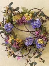 Hydrangea Hoop Wreath