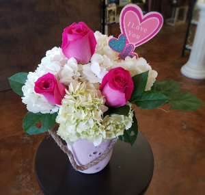 Hydrangea Love Valentine's Day in Clinton, OK | Prairie Sunshine Flowers & Balloons